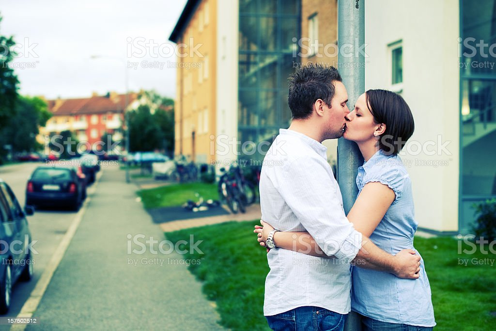 kissing couple royalty-free stock photo
