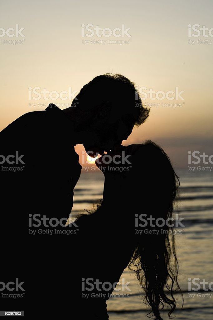 Kissing Couple royalty-free stock photo