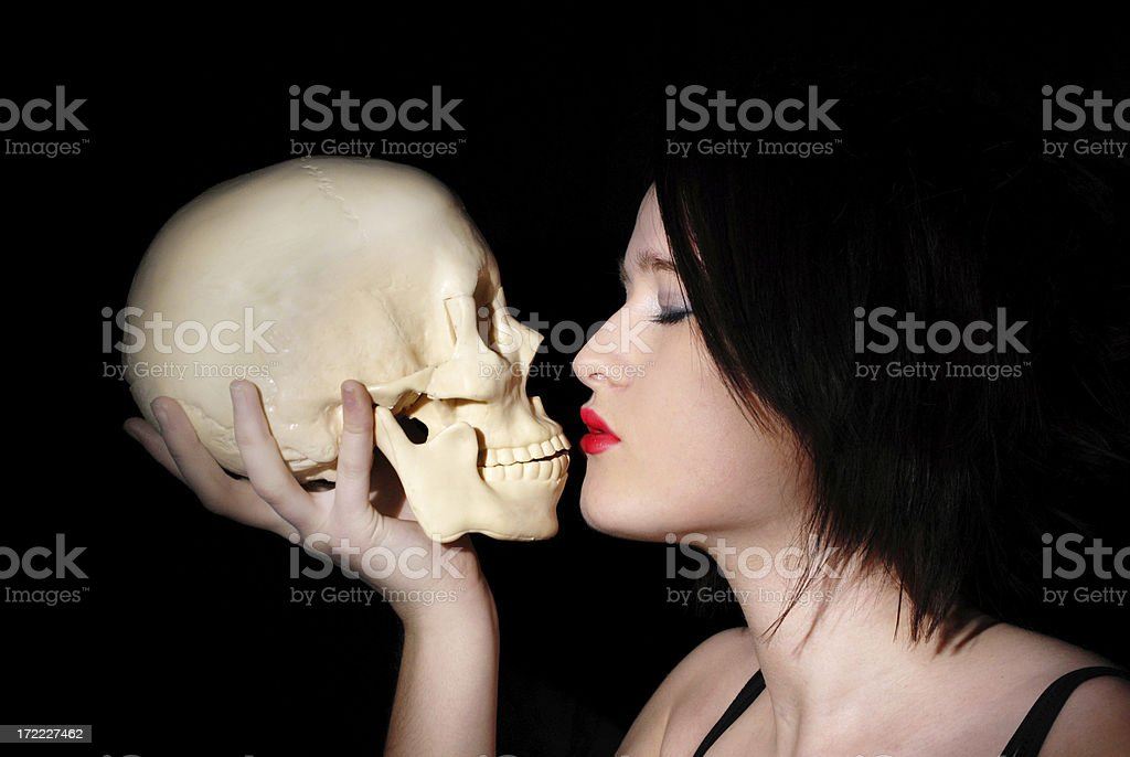 Kissing death series royalty-free stock photo