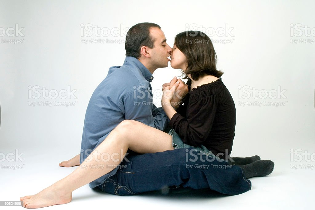 Kissing each other stock photo