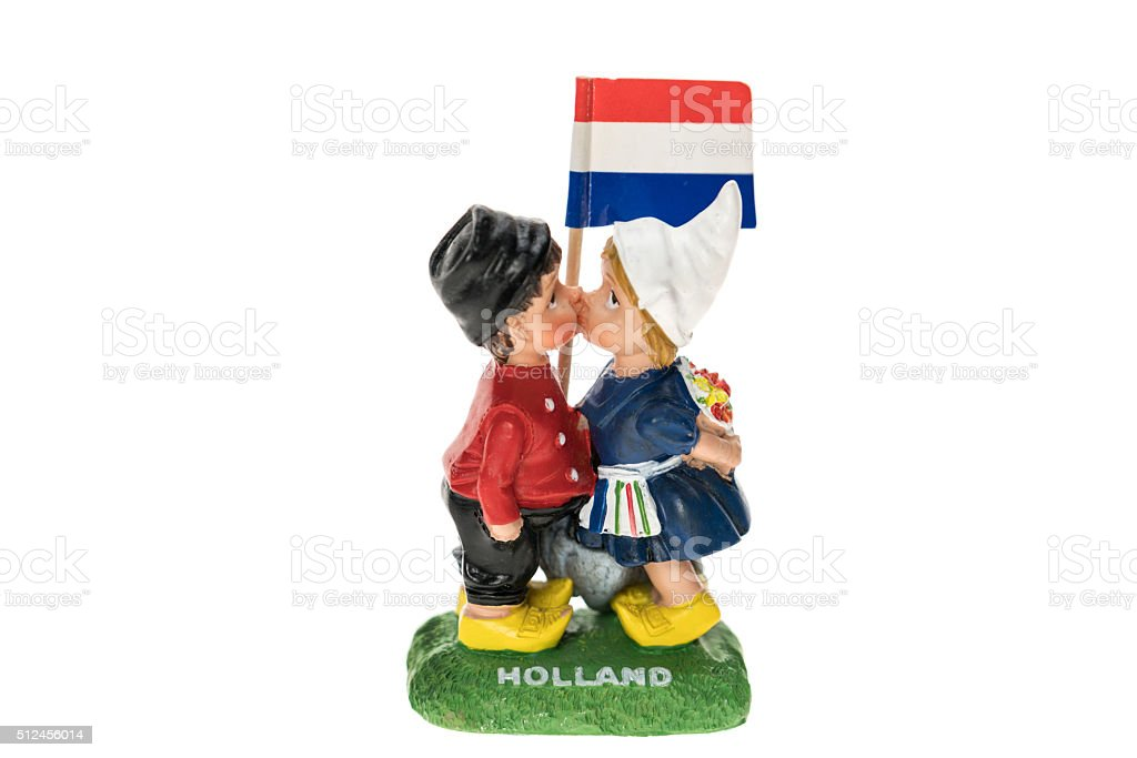 Kissing ornament from Holland stock photo