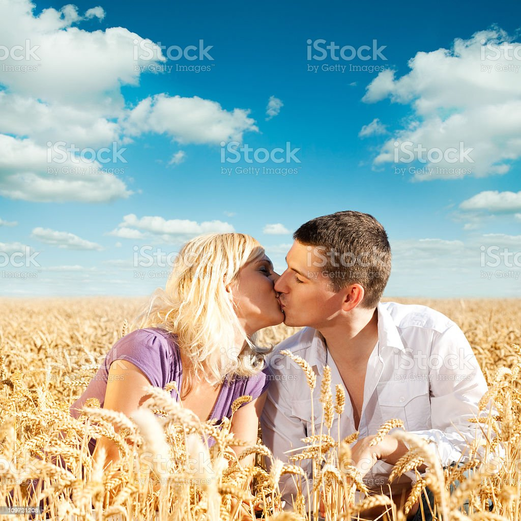 Kissing royalty-free stock photo