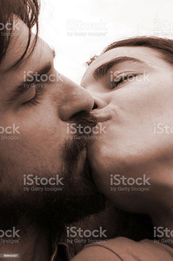 Kissing royalty-free stock photo