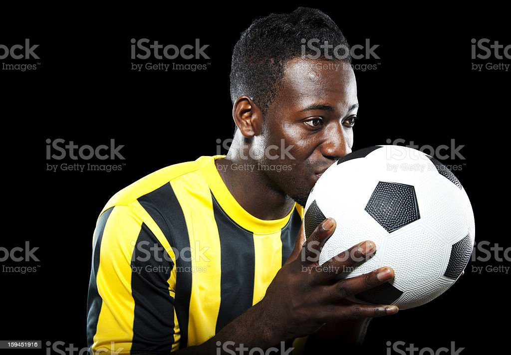 Kissing the ball for luck royalty-free stock photo