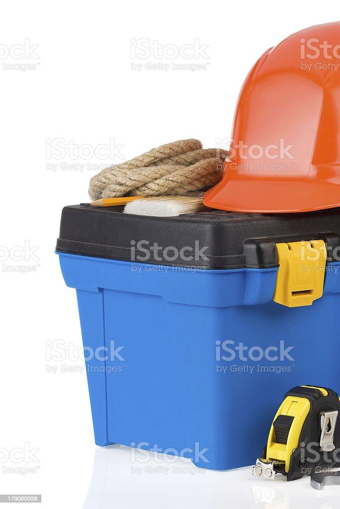 kit of construction tools at box royalty-free stock photo