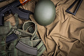 Kit of modern Russia military equipment