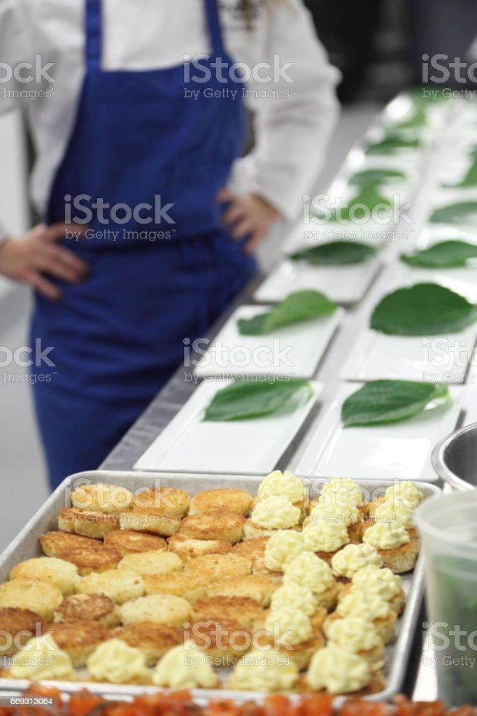 Kitchen action. stock photo