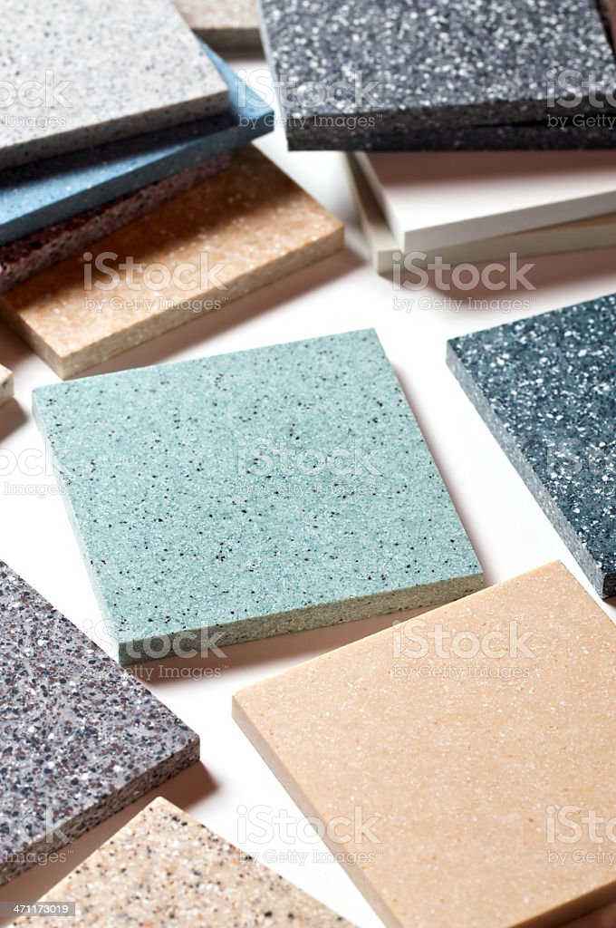 Kitchen and Bathroom Countertop Samples royalty-free stock photo
