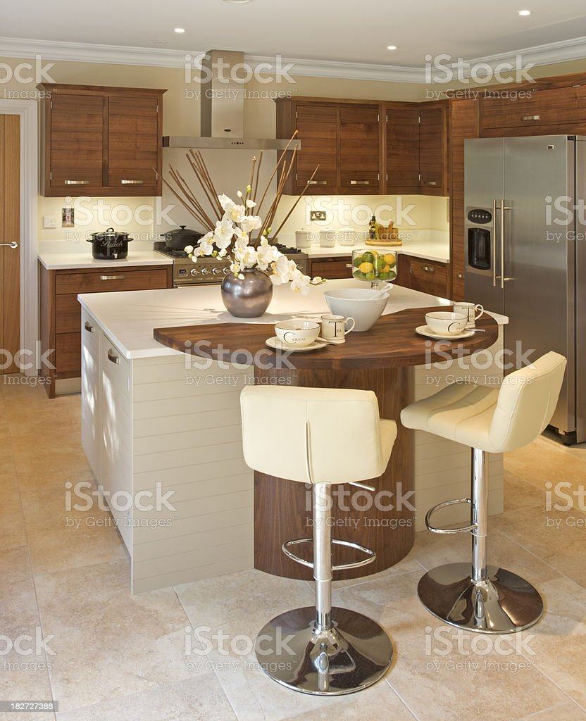 Kitchen and breakfast bar royalty-free stock photo
