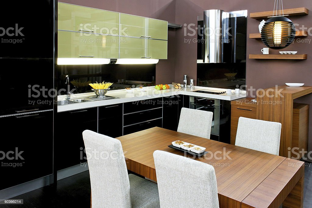 Kitchen and dinning royalty-free stock photo