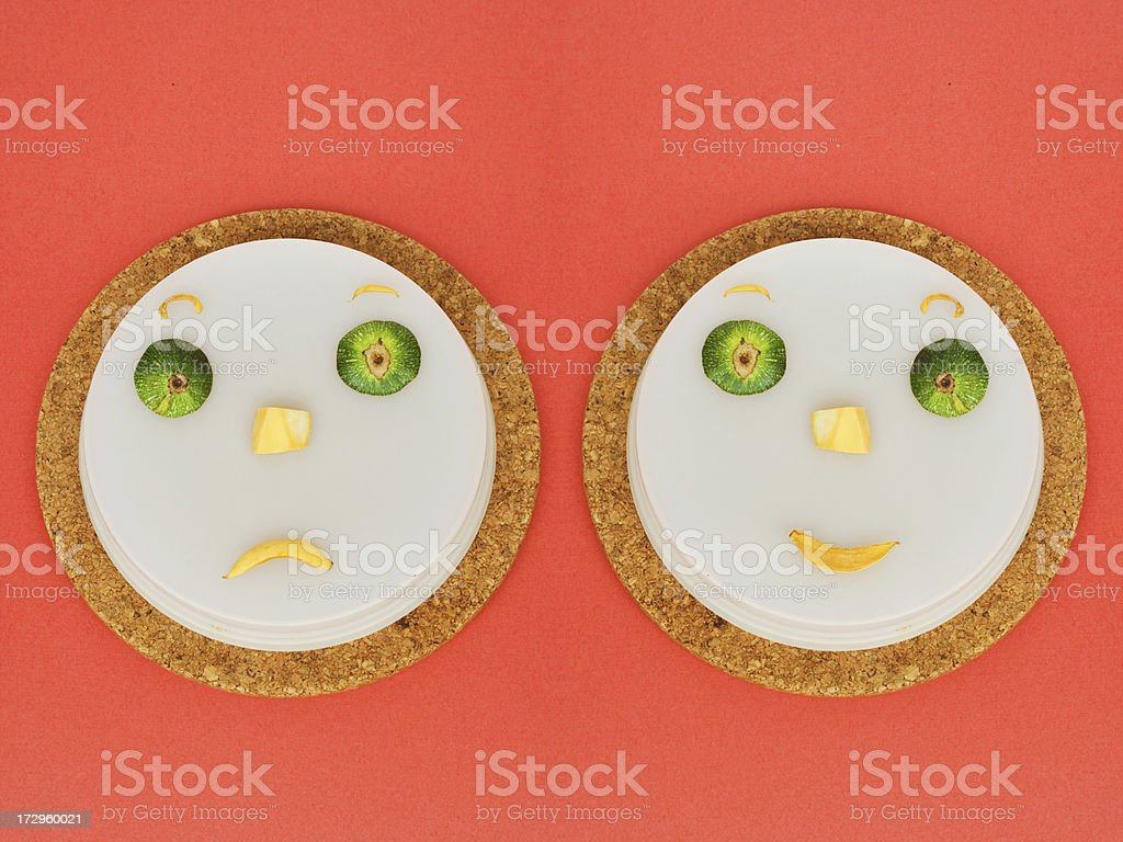 Kitchen art - two faces from vegetables royalty-free stock photo