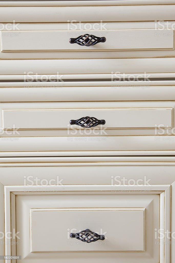 kitchen bathroom cabinet close up knob stock photo