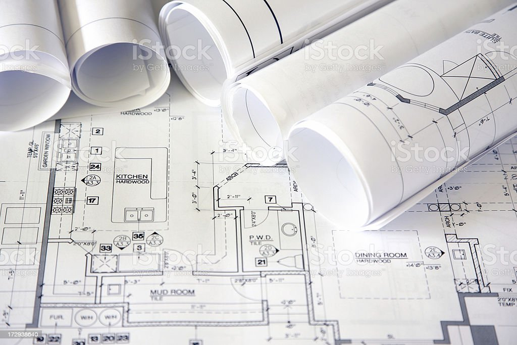 Kitchen Blueprint royalty-free stock photo