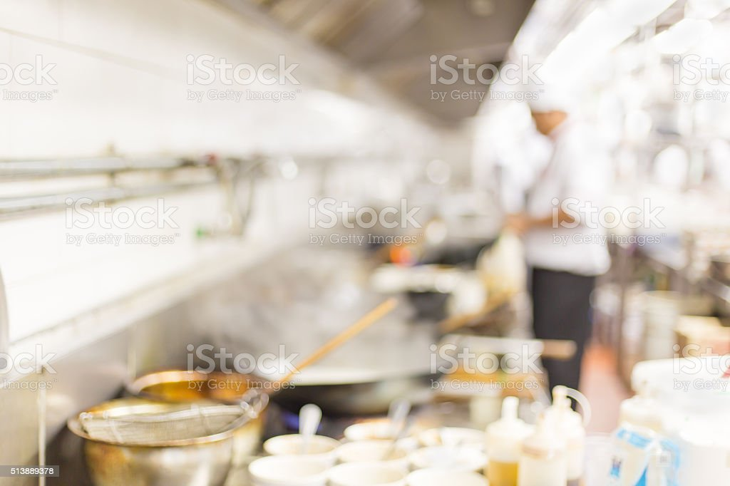 Kitchen blur stock photo