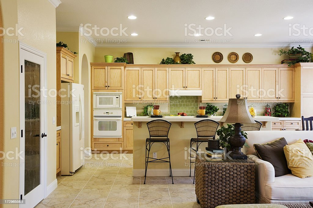 Kitchen Breakfast Living Room royalty-free stock photo