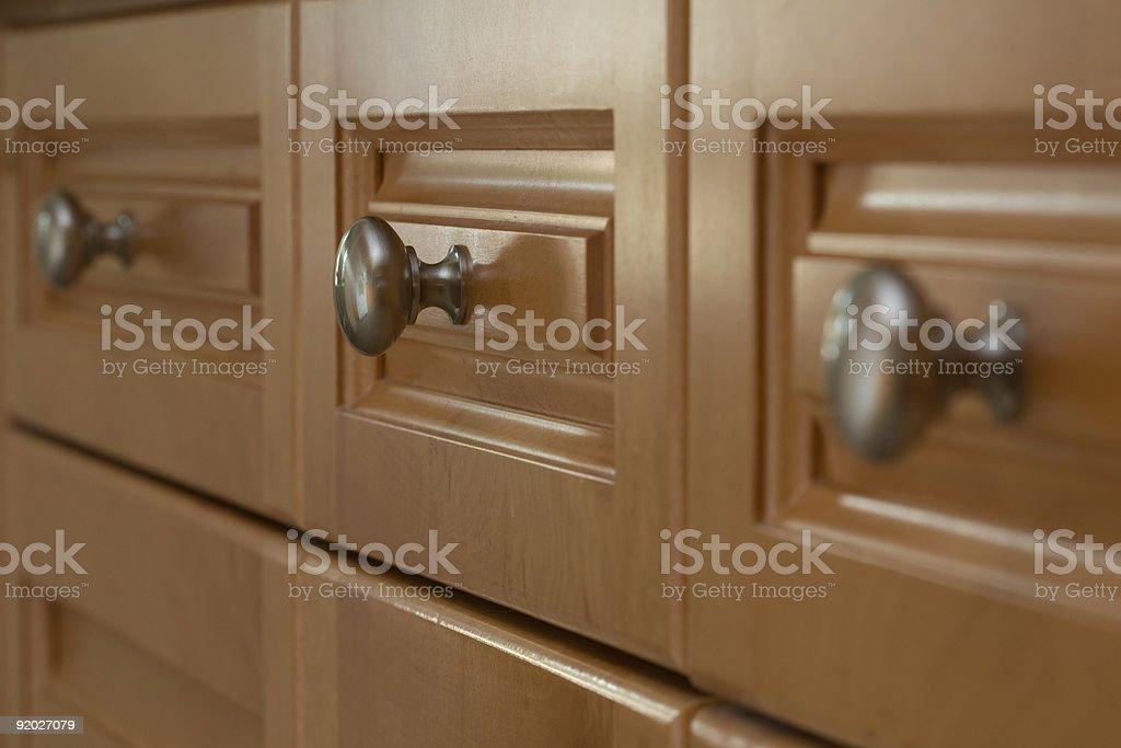 Kitchen Cabinet Drawer stock photo
