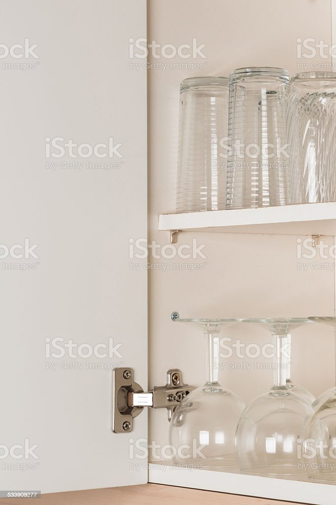 Kitchen cabinet stock photo