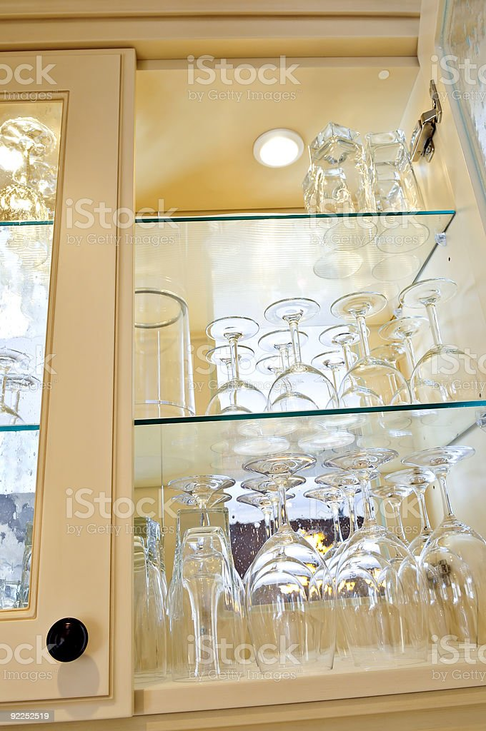 Kitchen cabinet royalty-free stock photo