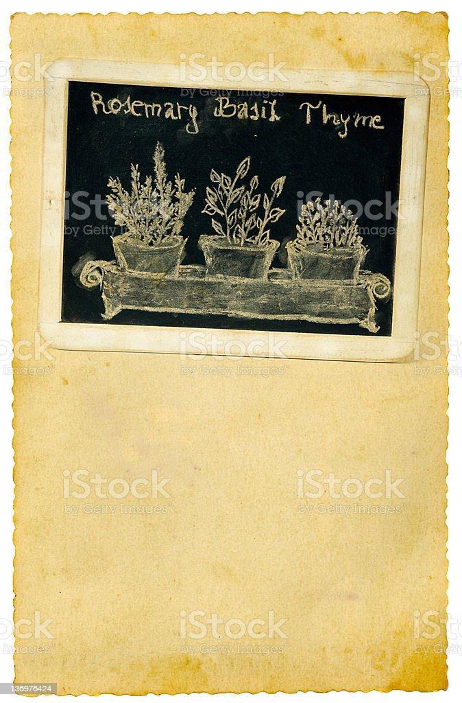 Kitchen chalkboard royalty-free stock photo