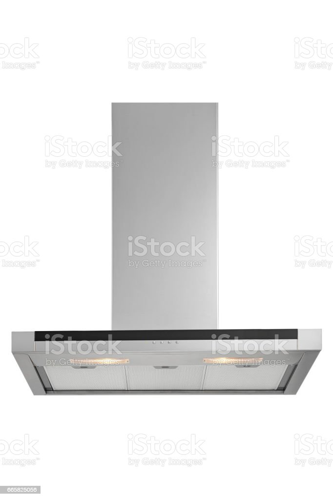 Kitchen chimney with clipping path stock photo
