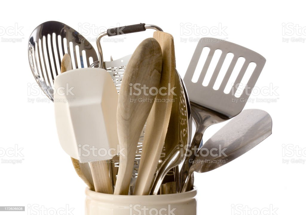 Kitchen Cooking Utensil and Equipment isolated on White Background royalty-free stock photo