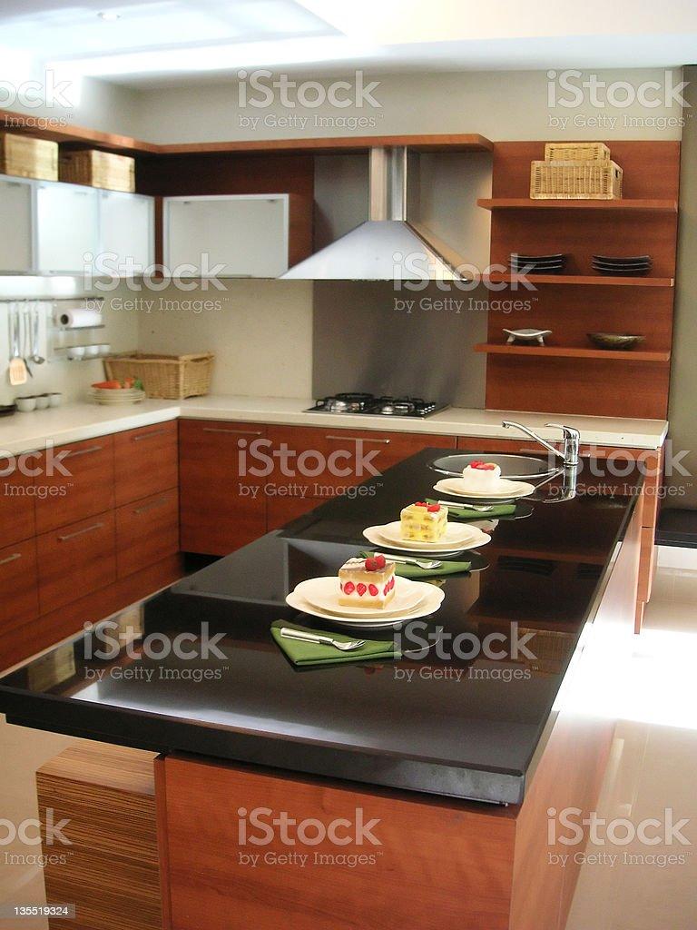 Kitchen counter royalty-free stock photo