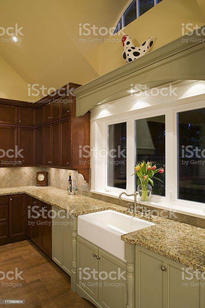 kitchen countertop sink window royalty-free stock photo