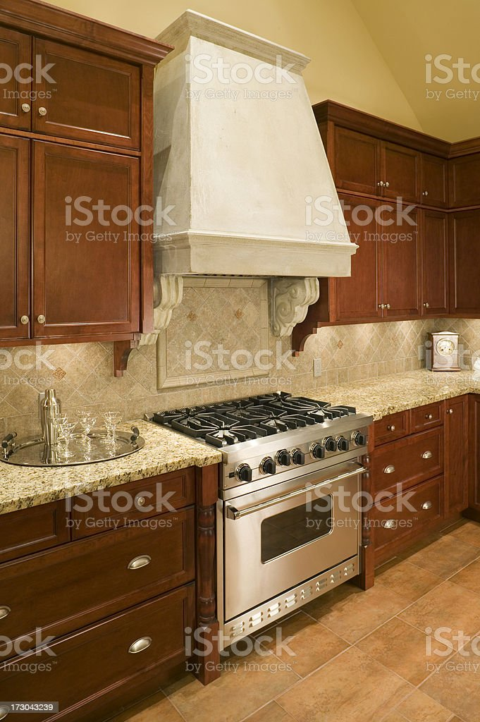 kitchen cupboards modern house royalty-free stock photo