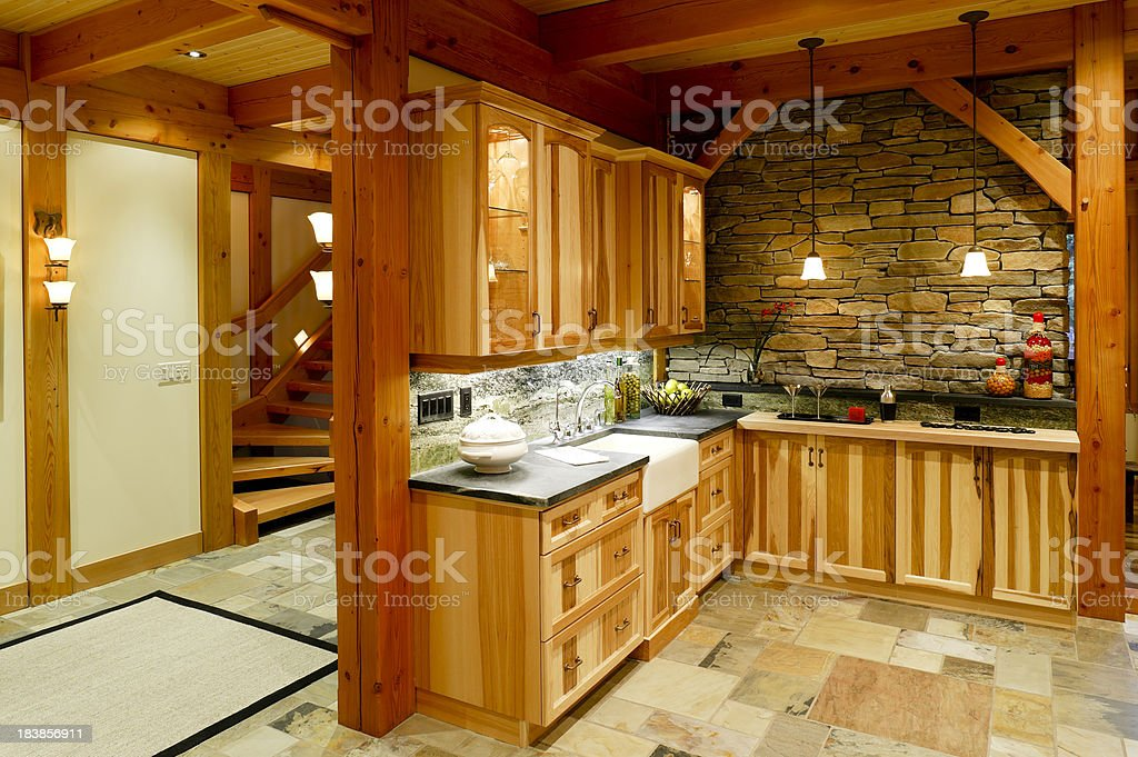 kitchen cupboards royalty-free stock photo