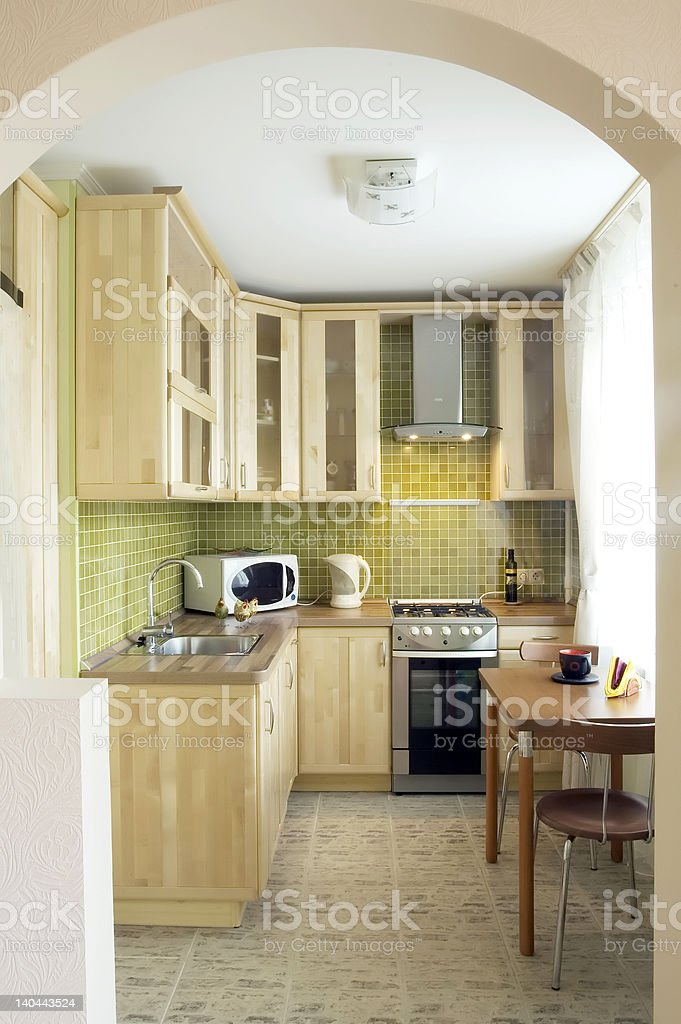 Kitchen - design for s small space stock photo