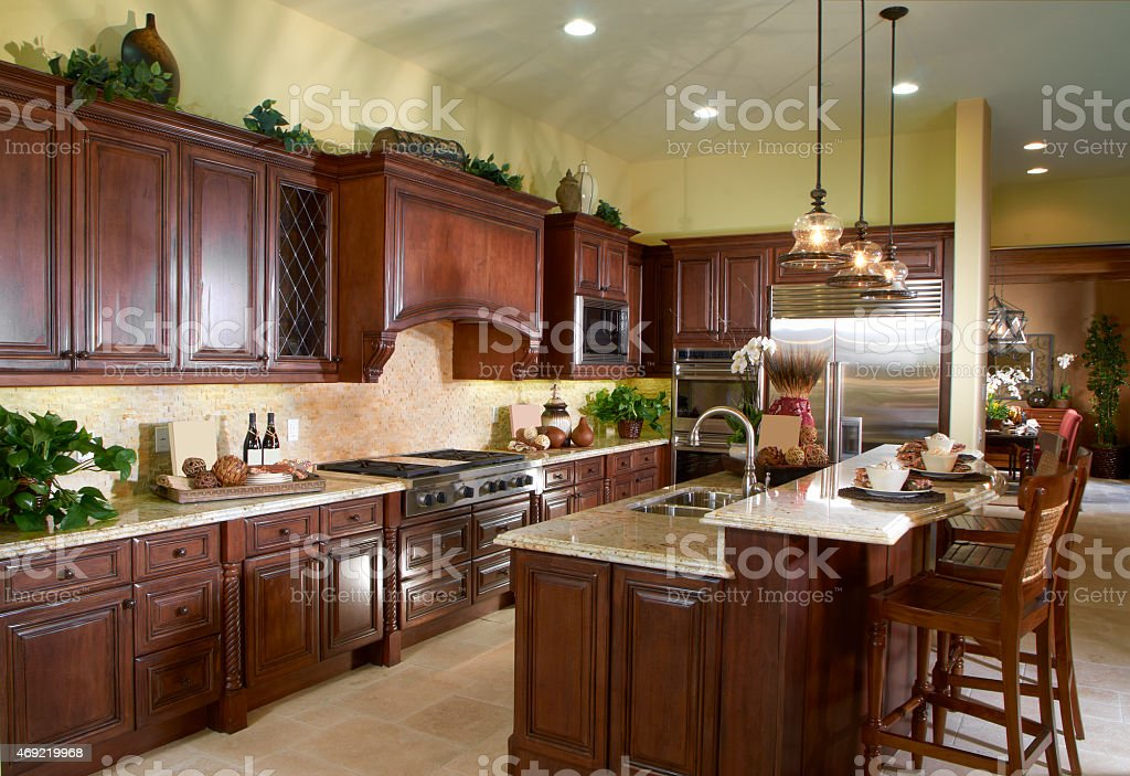 Kitchen Design Home Interior house stock photo