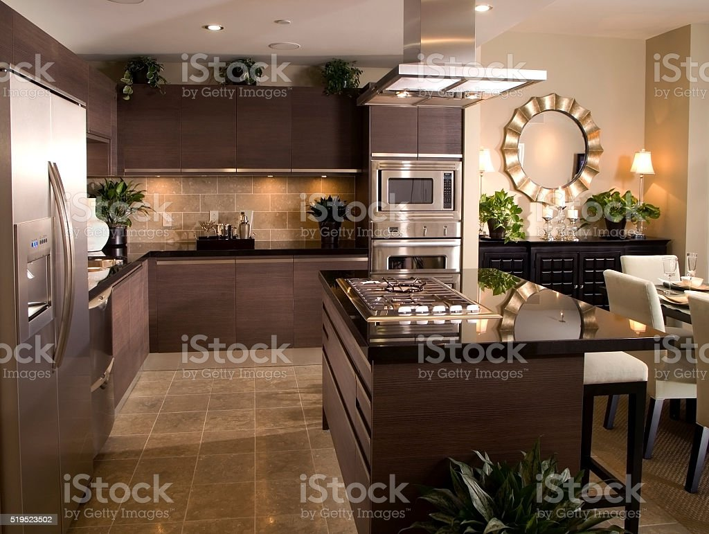 Kitchen Design Home Interior stock photo