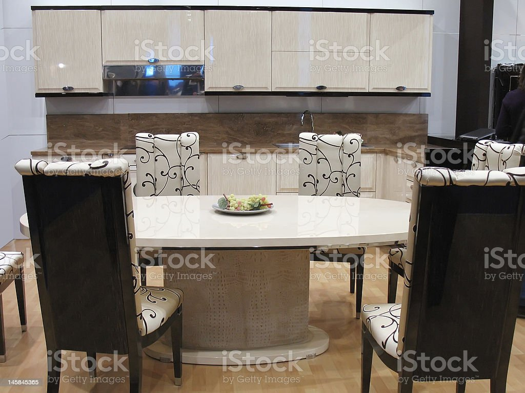 kitchen dining room royalty-free stock photo
