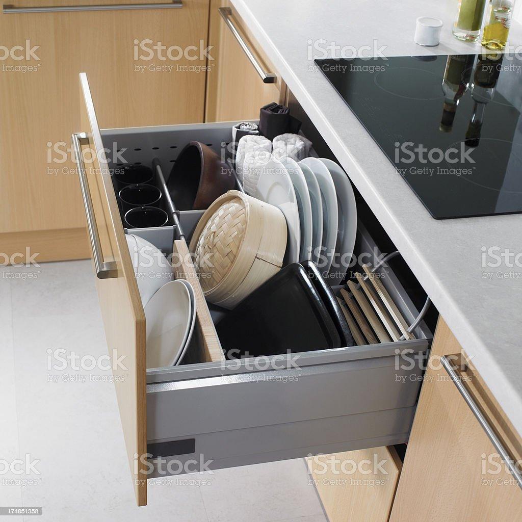 Kitchen drawer royalty-free stock photo
