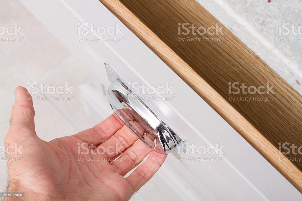 Kitchen Drawer stock photo