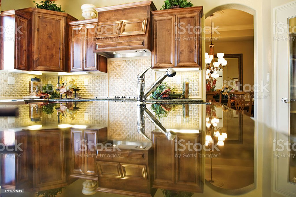 Kitchen Faucet And Counter royalty-free stock photo