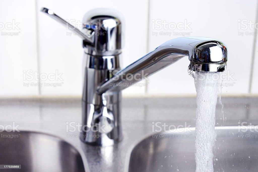 Kitchen faucet royalty-free stock photo