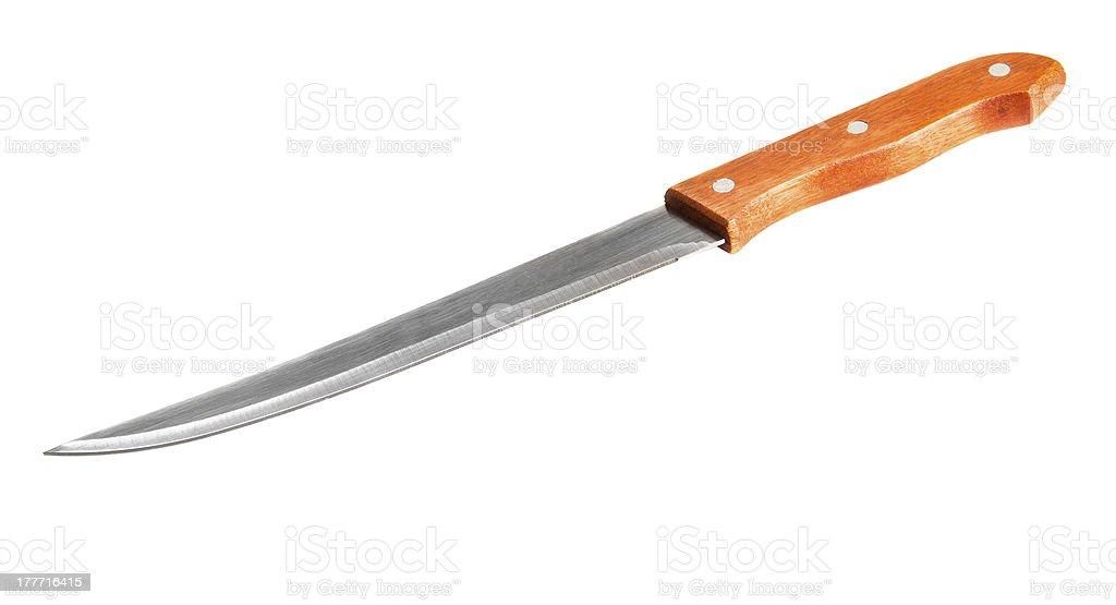 Kitchen fillet knife stock photo