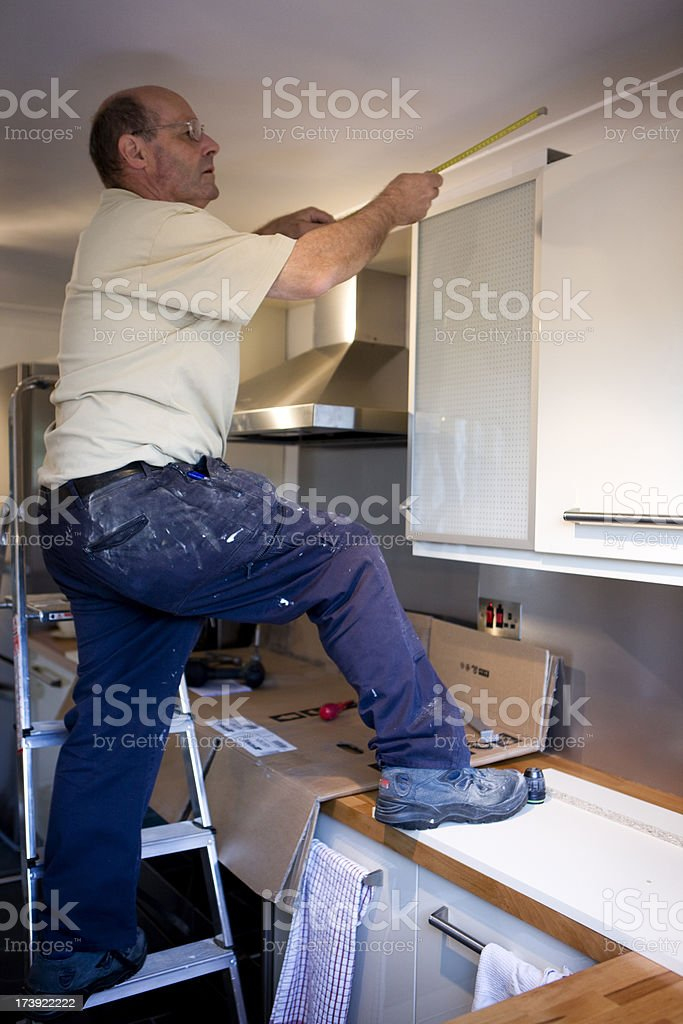 kitchen fitter royalty-free stock photo