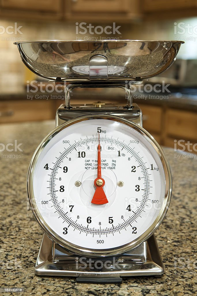 Kitchen Food Scale royalty-free stock photo