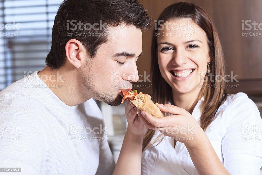 Kitchen - Funny Eat royalty-free stock photo