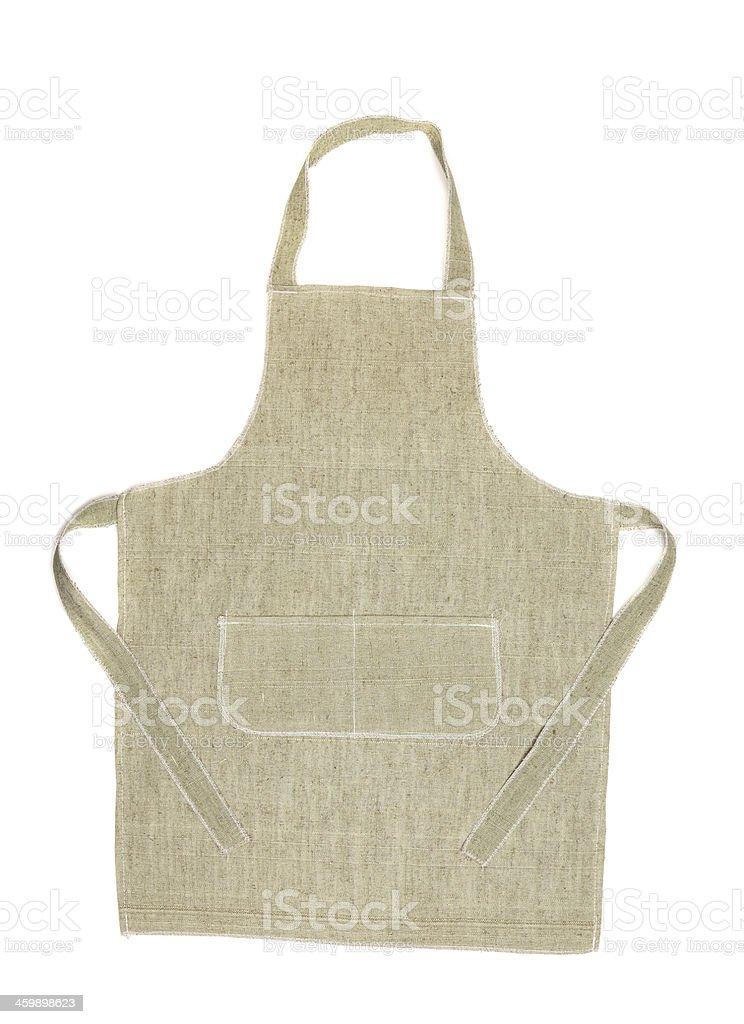 Kitchen gray apron. royalty-free stock photo