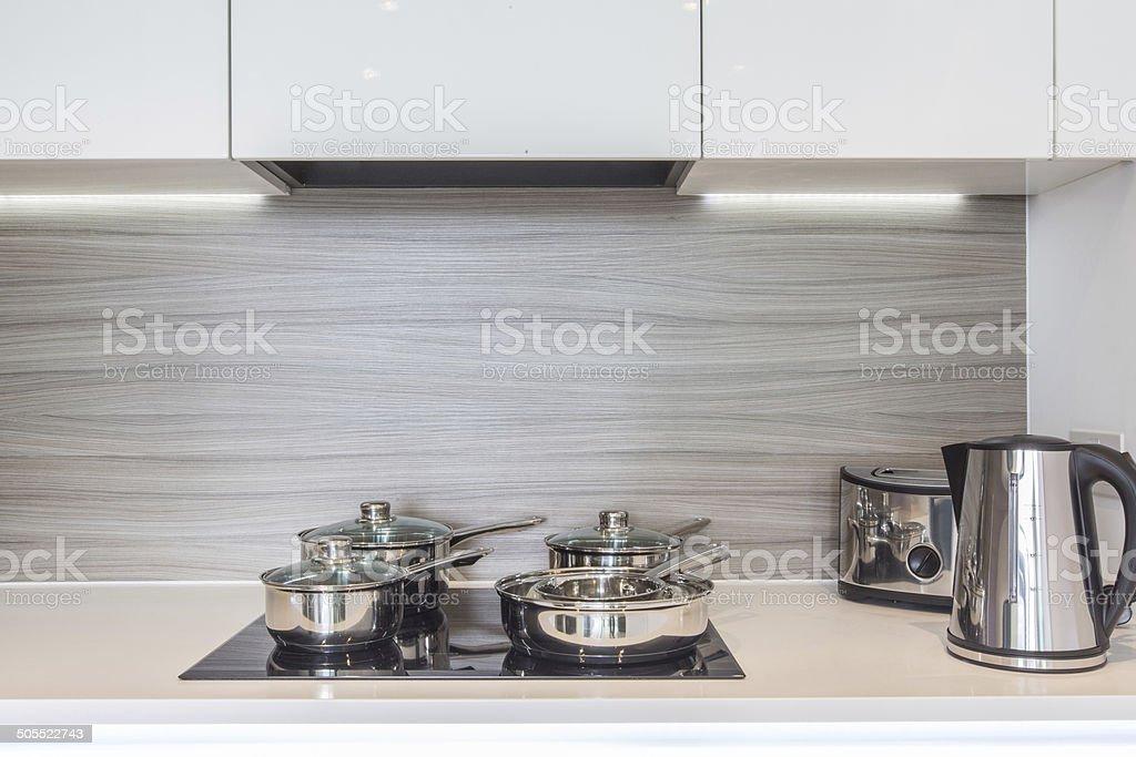 Kitchen Hob stock photo