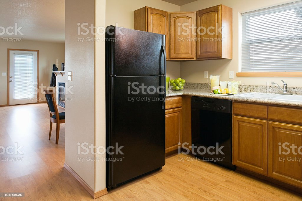 Kitchen in a Modest Home royalty-free stock photo