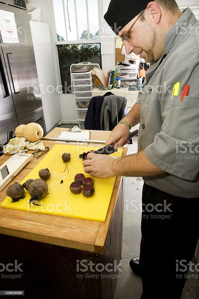 Kitchen in action royalty-free stock photo