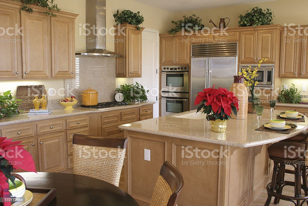 Kitchen in earth tones royalty-free stock photo