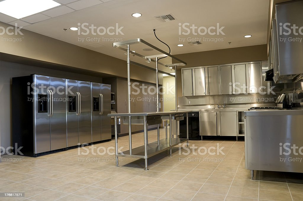 Kitchen in Fire House royalty-free stock photo