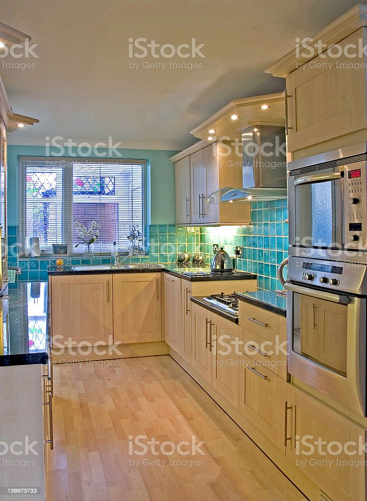 Kitchen in Luxury UK home 1 royalty-free stock photo