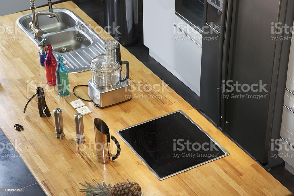 Kitchen in New York stock photo