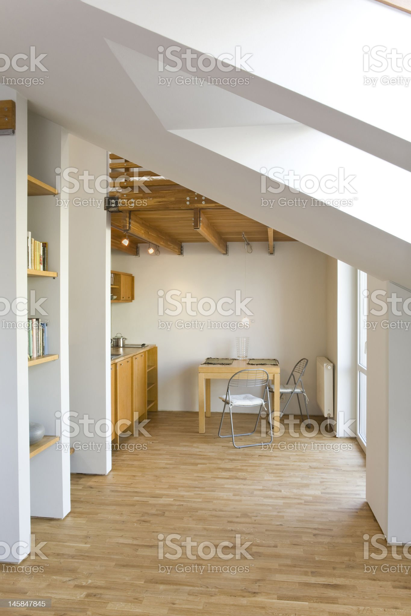 kitchen in the loft royalty-free stock photo